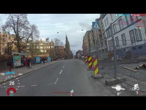 VIRB: Commuting in Oslo centre
