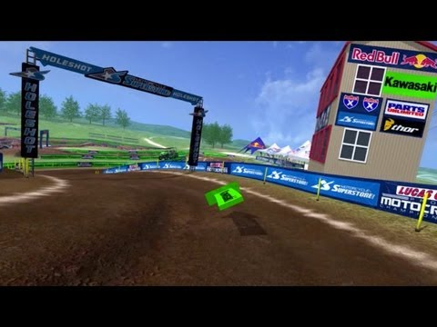 2013 High Point Motocross Animated Track Map POV Cam