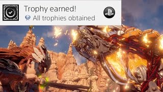 Horizon Zero Dawn gameplay - GETTING the PLATINUM TROPHY vs Corrupted BEHEMOTH (Horizon Behemoth)