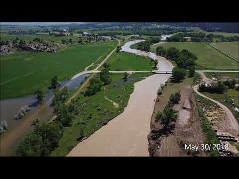 Flooding of the Musselshell River near Roundup, MT