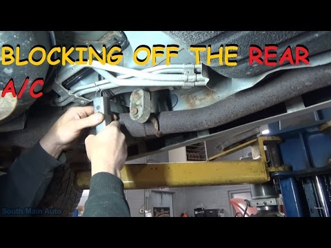 Installing Rear A/C Block Off