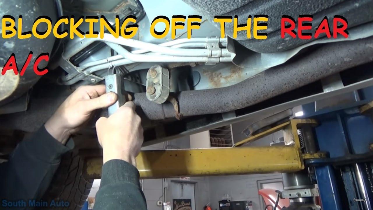 Installing Rear AC Block Off  YouTube