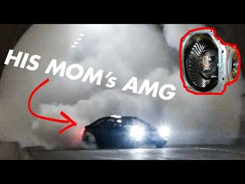 WELDING THE DIFF ON HIS MOM'S C63 AMG! Then STREET DRIFTING It!