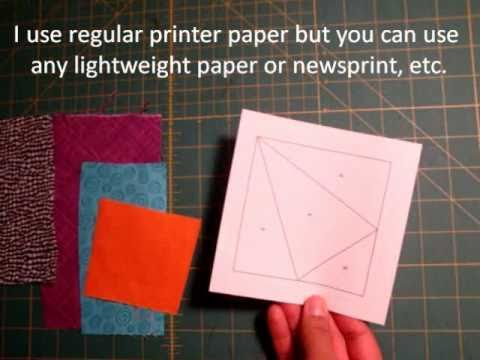 Paper Piecing Made Easy Tutorial