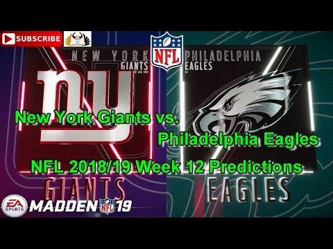 New York Giants vs. Philadelphia Eagles | NFL 2018-19 Week 12 | Predictions Madden NFL 19