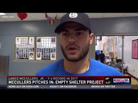 McCullers pitches in: Empty Shelter Project