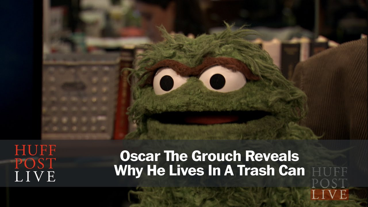 Oscar The Grouch Reveals Why He Lives In A Trash Can Youtube