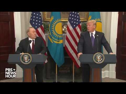 WATCH: President Trump, Kazakh president deliver joint state