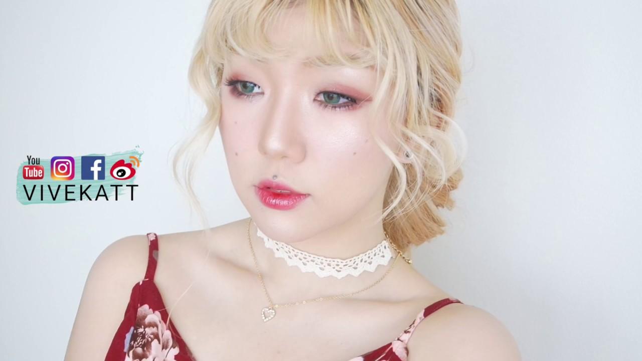 单眼皮整容级化妆教程-超适合夏天的樱桃果酱妆+夏日不脱妆小技巧 // Vivekatt