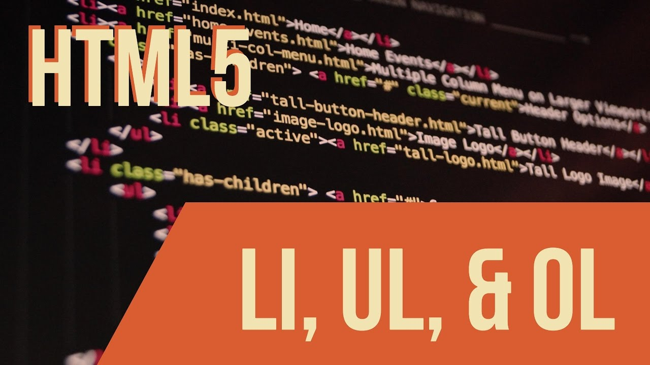 Learn Html With Keith  Li  Ul   U0026 Ol