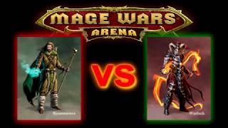 Beastmaster vs Warlock ADMW Practice - Mage Wars Battle #103