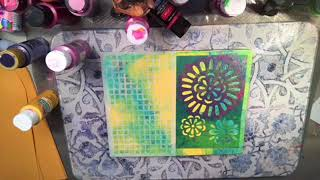 Gelli Plate Play - with Rubbing Plates