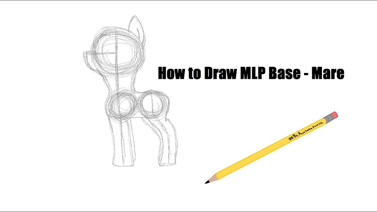 how to draw a mlp base mare
