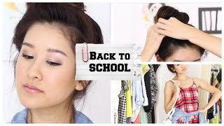 Back to School: Drugstore Makeup, Hair, & Outfit! Thumbnail