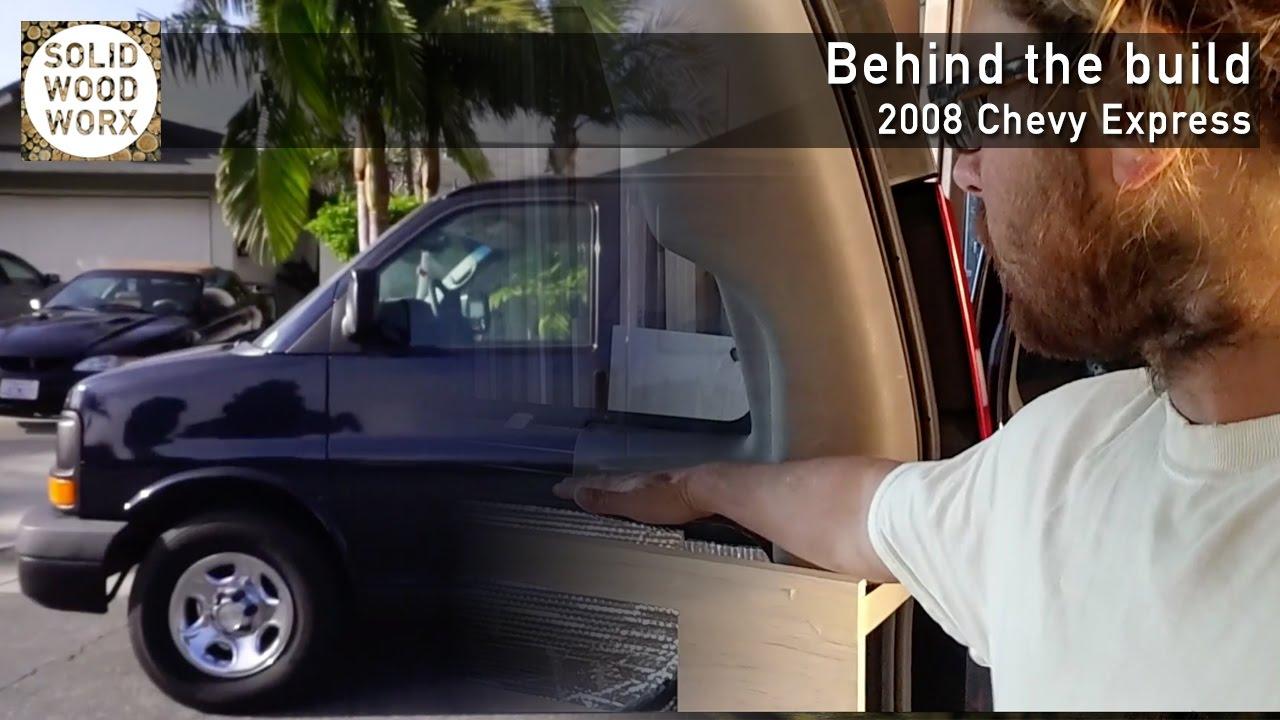 medium resolution of chevy express van conversion behind the build