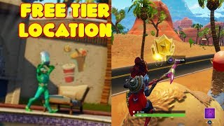 FORTNITE SEASON 5 WEEK 4 CHALLENGES COMPLETE! LOADING SCREEN FREE TIER LOCATION