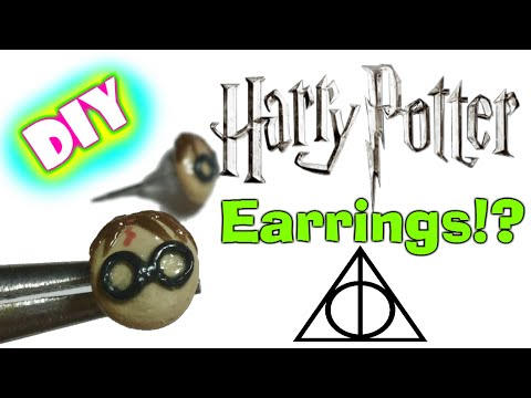 Diy Harry Potter Stud Earrings Polymer Clay Youtube