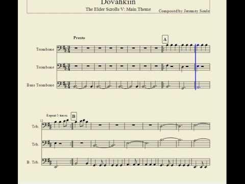 Skyrim theme for Trombone Trio.