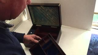 Victorian Coromandel Brass Bound Vanity/jewelry Box, C.1850