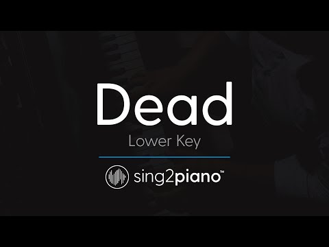 Dead [LOWER Piano Karaoke] Madison Beer