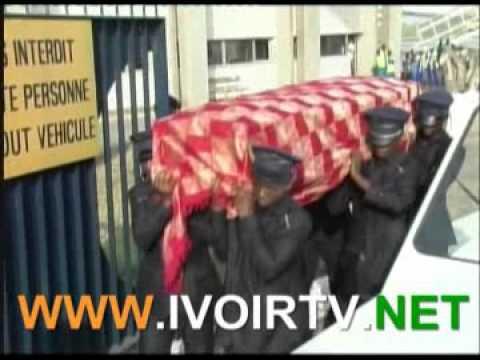 Cote d'Ivoire; Arrivee de la depouille mortelle de Jean Baptiste GOMONT Diagou, ex Maire de Cocody