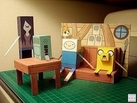 Papercraft adventure time papercraft DIY