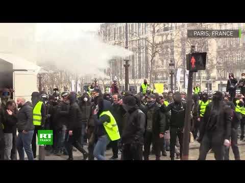 Saqueos a negocios y violencia en París en nueva protesta de los chalecos amarillos