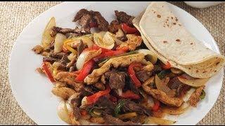 فاهيتا الدجاج واللحم البقري المكسيكة
