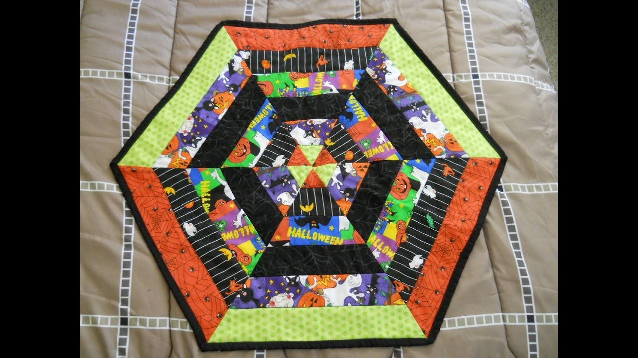 halloween hexagon table topper