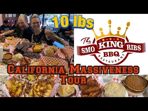 THE SMOKING RIBS 10 LB MASSIVE BBQ CHALLENGE - PREVIOUSLY DONE BY RAINA IS CRAZY WITH MORE FOOD!