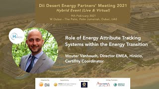 Role of Energy Attribute Tracking Systems within the Energy Transition  - Wouter Vanhoudt, Hinicio