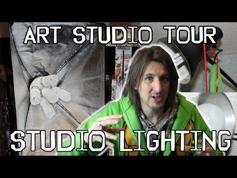 art studio tour lighting how i light my studio duration 403 splintered studios the art of stephen quick 1775 views best lighting for art studio