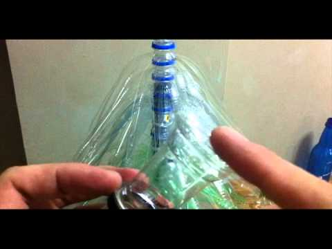 how to make the christmas dome with plastic cups