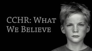CCHR: What We Believe