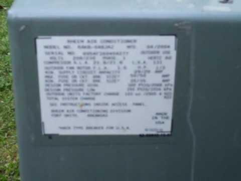 hqdefault rheem air conditioner youtube Rheem Thermostat Wiring at n-0.co