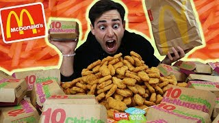 1000 MCDONALD'S CHICKEN NUGGETS CHALLENGE *200,000 CALORIES* IMPOSSIBLE INSANE EXTREME EATING