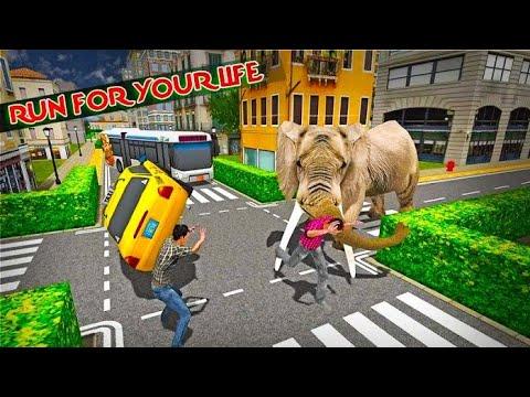 Elephant Vs Dog Zebra | Elephant Attack City Rampage | Animal Gameplay | Hannu Games