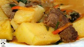 Жаркое с мясом и картошкой.Жаркое из говядины