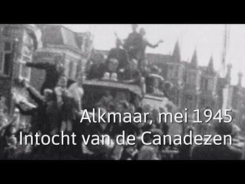 Alkmaar, mei 1945. Intocht van de Canadezen