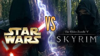 Star Wars (Sith) vs Skyrim (Dark Brotherhood) - LIVE ACTION DUEL