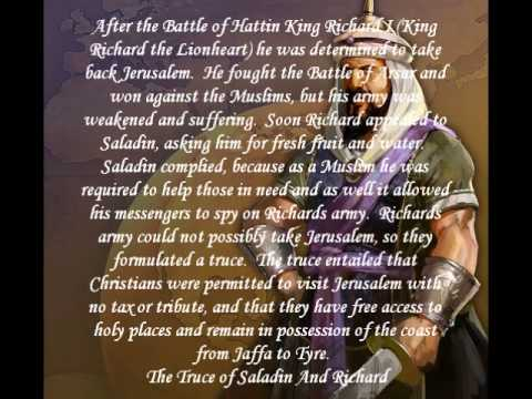 the story of saladin The holy crusades were an important era in the history of the relations between europe and west asia in this lesson, we'll explore the life of.