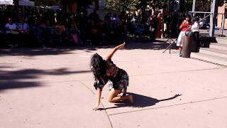 INDIGENOUS PEOPLES DAY 2019 - SANTA FE, NM - Natalie Benally  honoring the Corn Dance