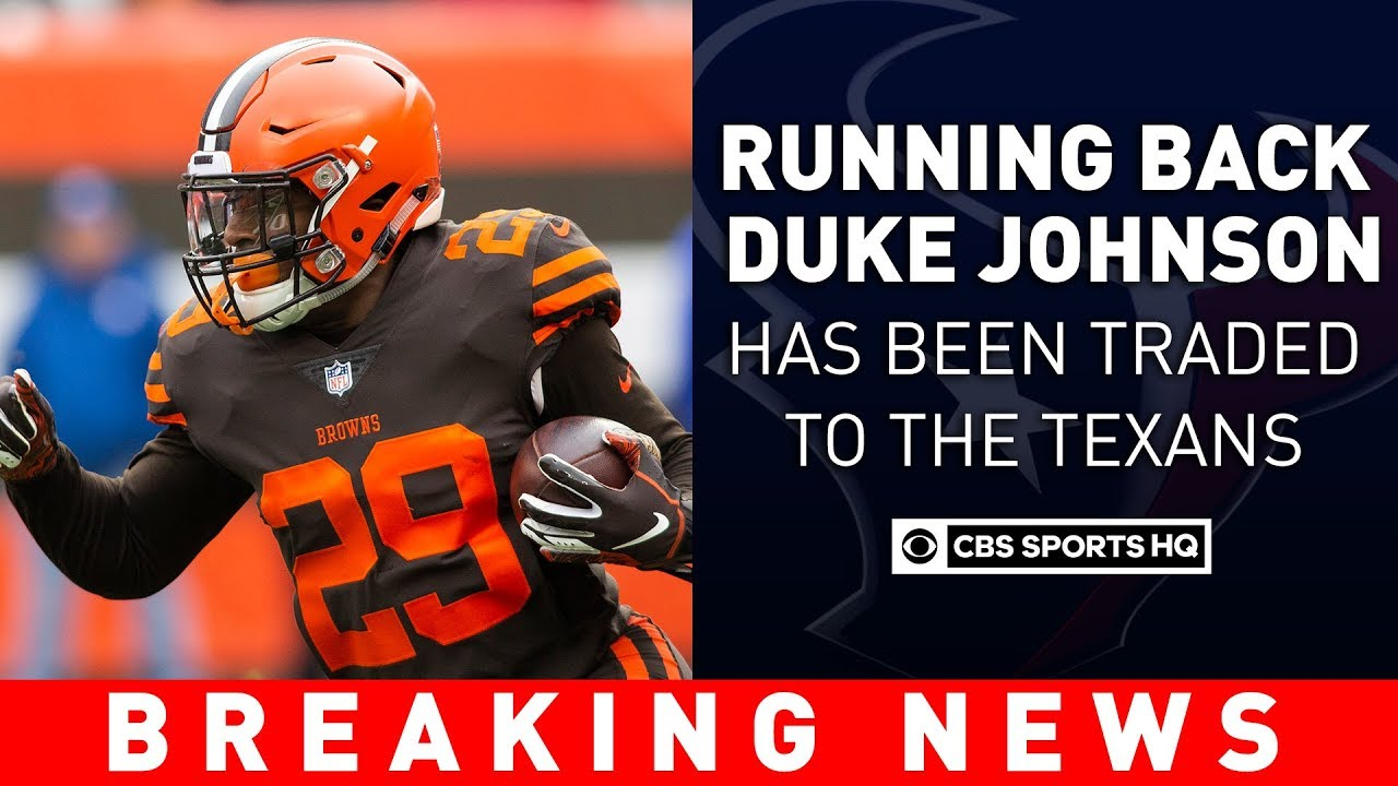 d2c5674e The Cleveland Browns Trade RB Duke Johnson To The Houston Texans | Breaking  News | CBS Sports HQ