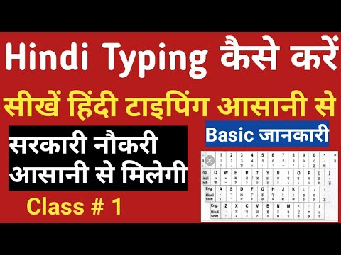 Finger Position On Keyboard For Hindi Typing