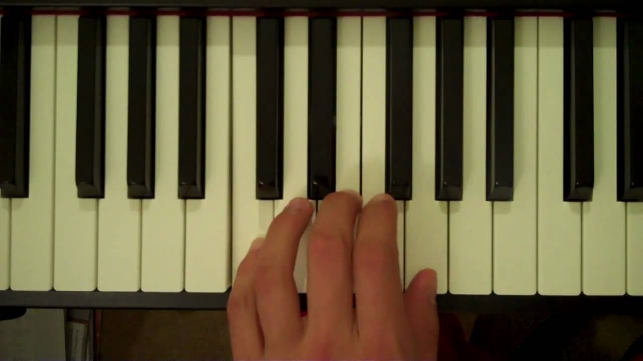 E Chord Piano Left Hand How To Play a C Major ...