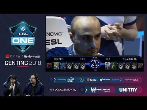 [TH-Official] ESL One Genting 2018 | Final | Newbee ⚔️ Team Liquid | Game 1