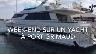 Visite d'un yacht à Port Grimaud