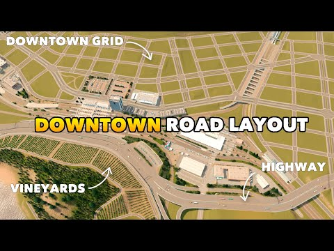 Building an Amazing and Efficient Downtown Road Layout for my Dream Bay City | Ep. 13 |