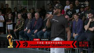 Kawhi Leonard DOES HIS SIGNATURE LAUGH At The Parade!
