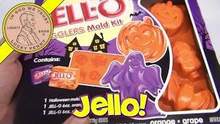Jello Jigglers Halloween Mold Kit Bat/skull/ghost/pumpkin, 2012 - Orange, Grape Gelatin, Mold Tray